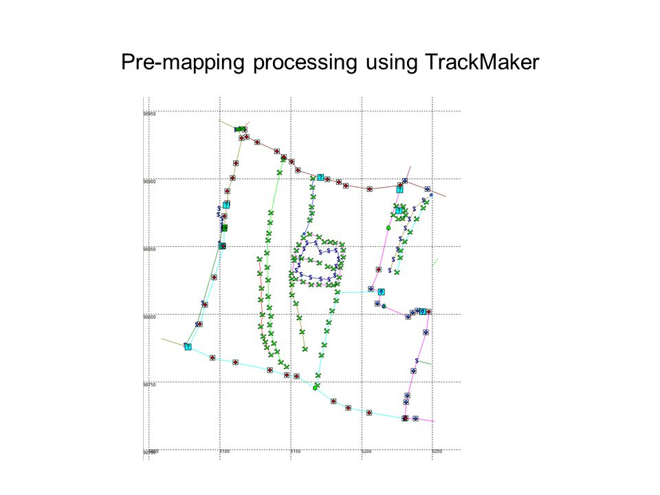 Pre-mapping processing using TrackMaker