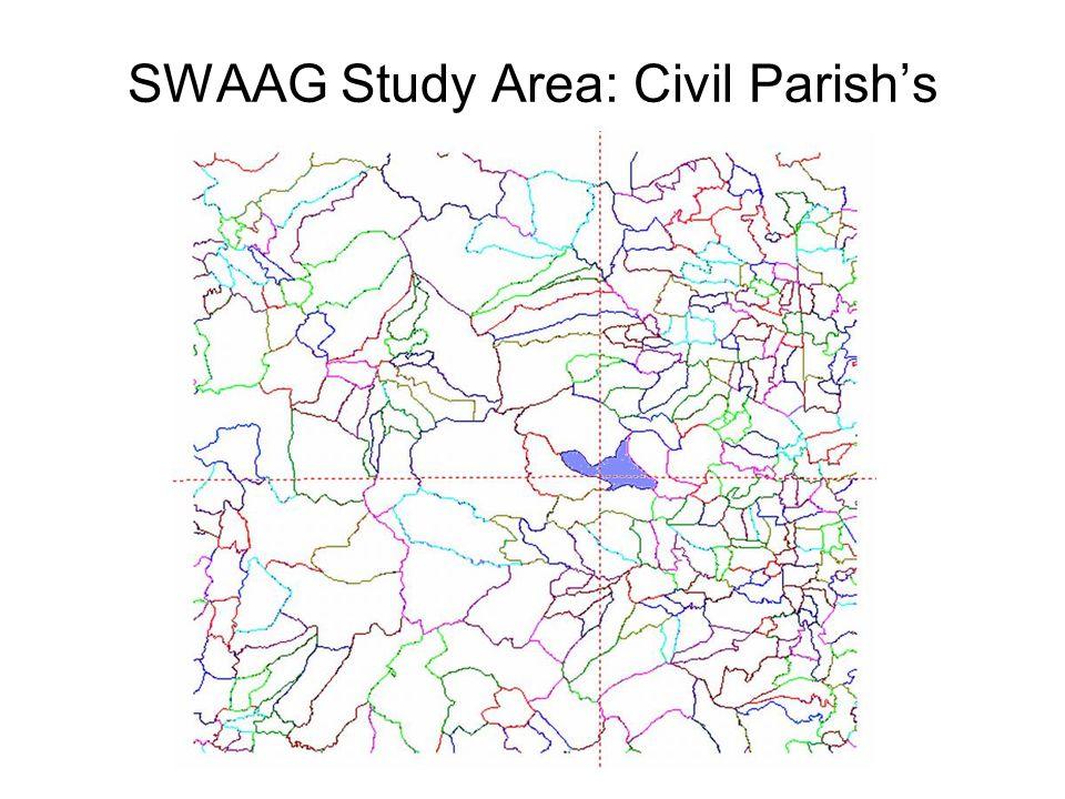 SWAAG Study Area: Civil Parish's