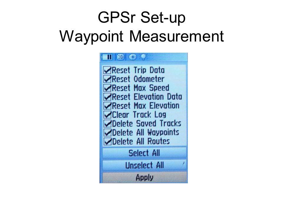 GPSr Set-up Waypoint Measurement
