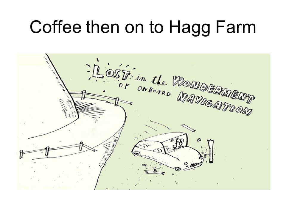 Coffee then on to Hagg Farm