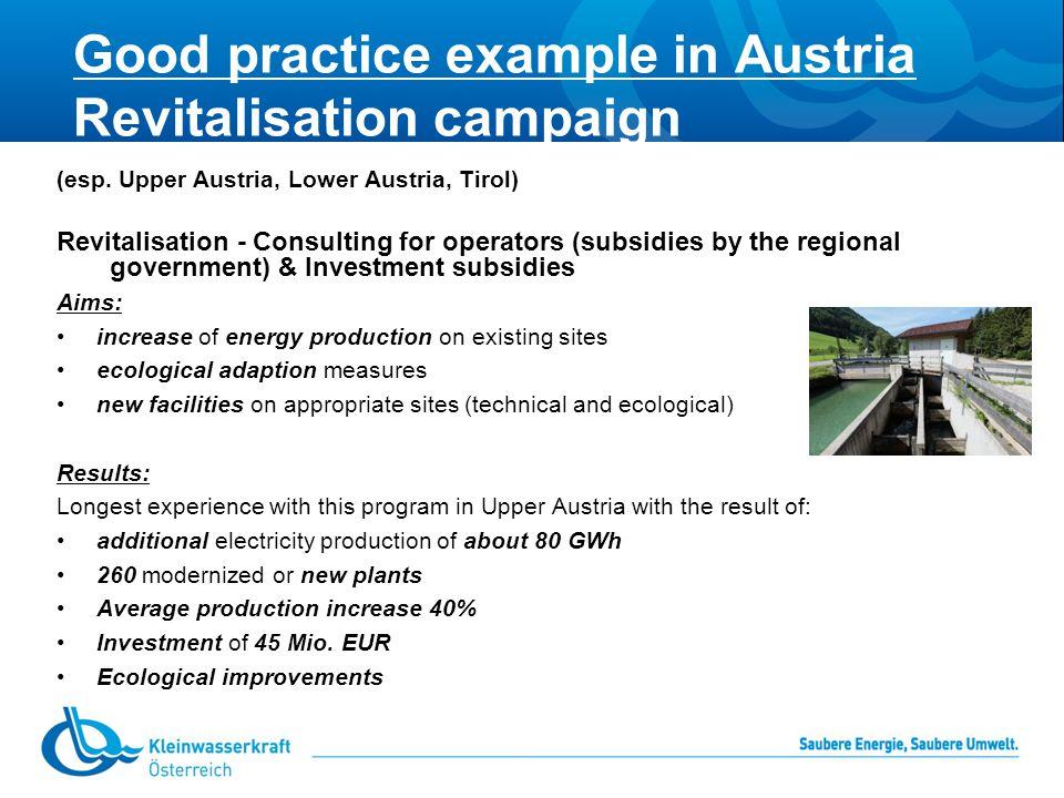 Good practice example in Austria Revitalisation campaign (esp.