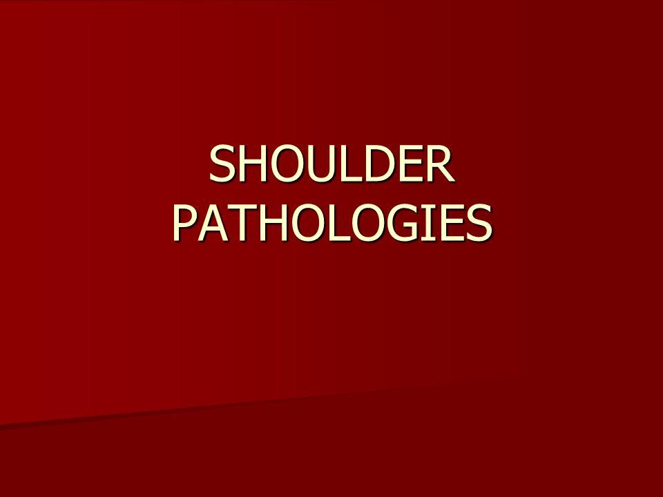 CALCIFYING TENDINITIS/BURSITIS Pain over deltoid area Pain over deltoid area Arc of pain Arc of pain Decr ROM Decr ROM Night pain Night pain Atrophy Atrophy REST, NSAID, AVOIS IMPINGEMENT POSITIONS, GENTLE ROM, AVOID HEAT REST, NSAID, AVOIS IMPINGEMENT POSITIONS, GENTLE ROM, AVOID HEAT