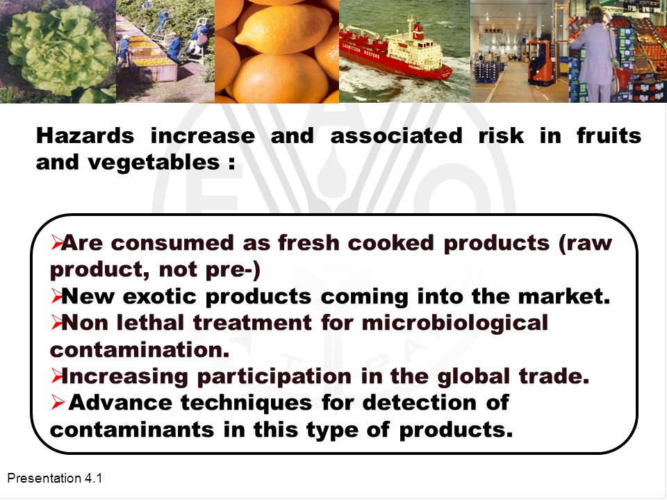 Presentation 4.1 Why are the hazards and their associated risk increasing.