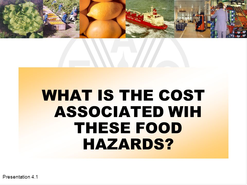 Presentation 4.1 CHEMICAL HAZARDS ARE ALSO VERY IMPORTANT Pesticide residues have adverse effects on human health in the long run.