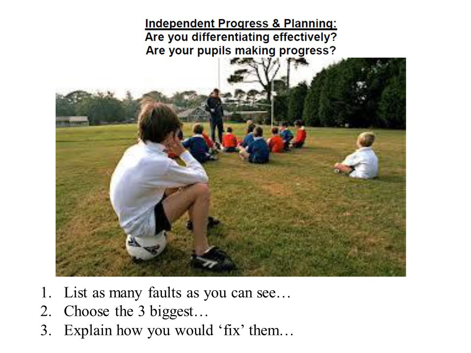 Independent Progress & Planning: Are you differentiating effectively.