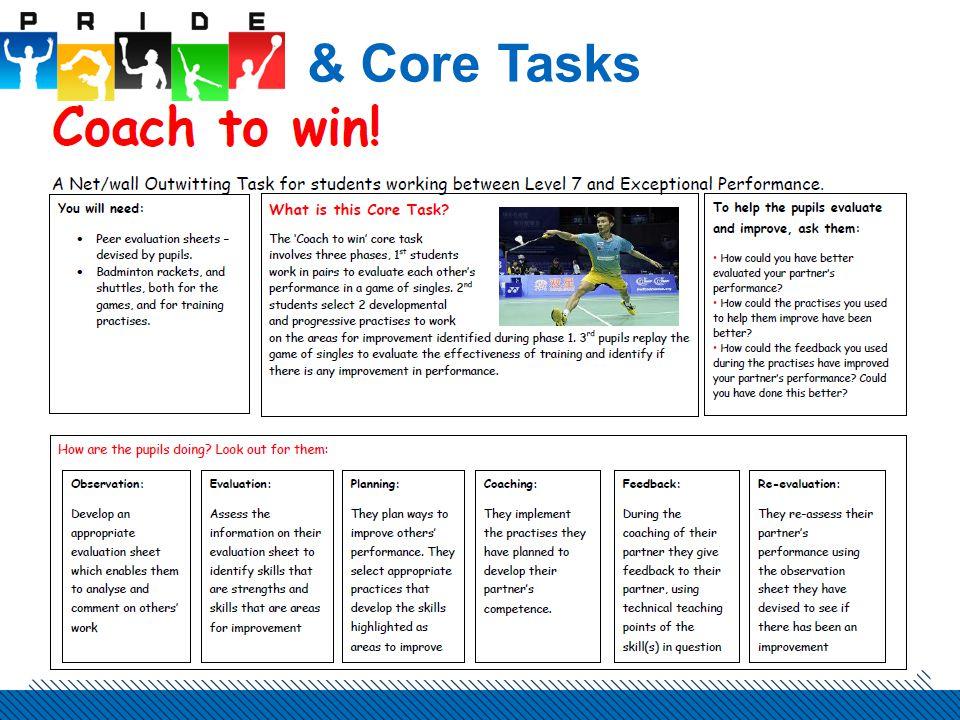& Core Tasks