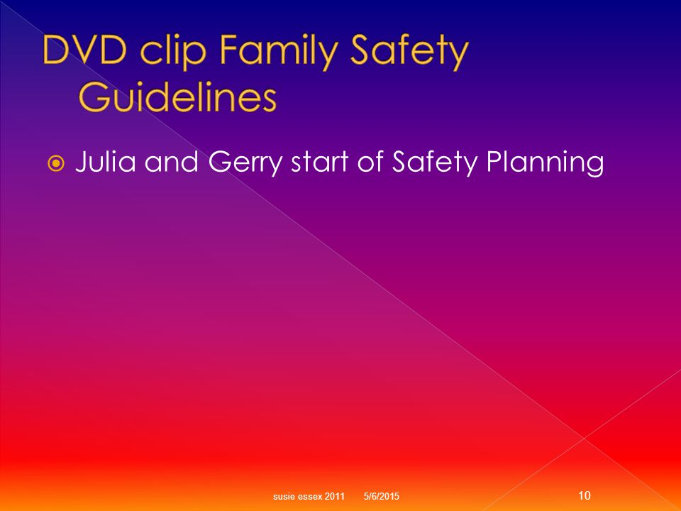  Julia and Gerry start of Safety Planning susie essex 2011 5/6/2015 10