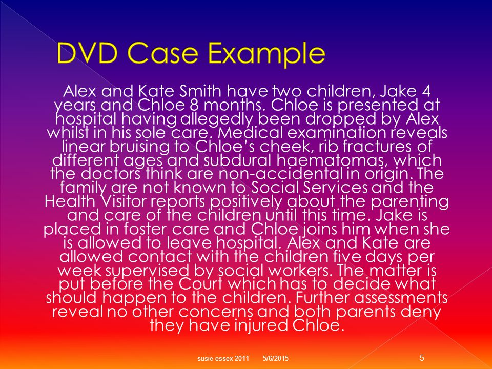 Alex and Kate Smith have two children, Jake 4 years and Chloe 8 months.