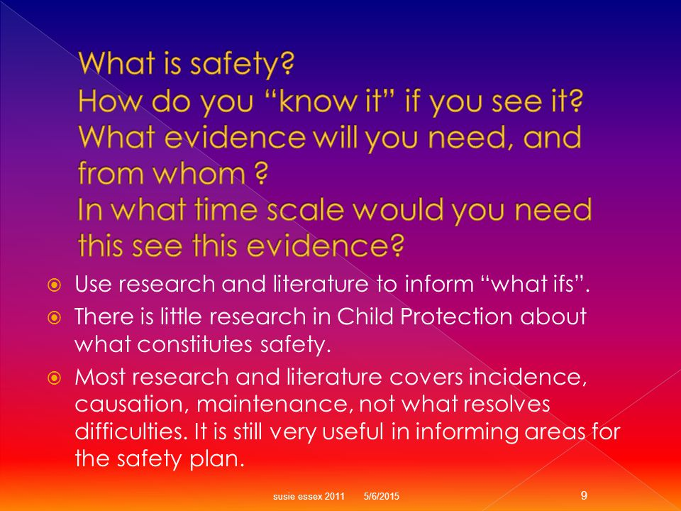  A list of Services, or Therapies for parents to undertake is not safety.