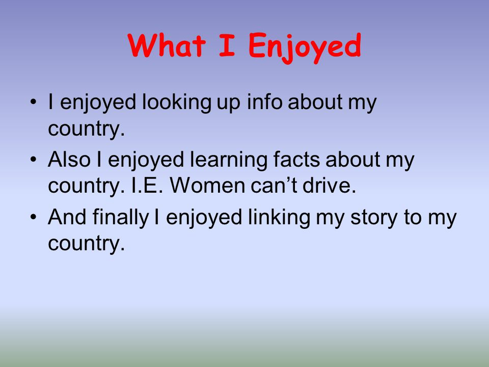 What I Learned I learned loads of things with web quest, These included Information about my country ( Saudi Arabia ) Different story starts.