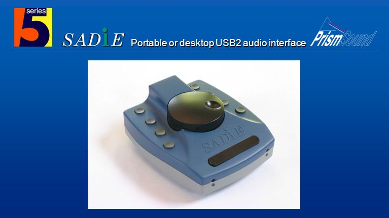 Portable or desktop USB2 audio interface