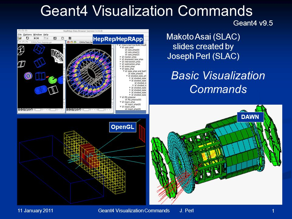 11 January 2011 52Geant4 Visualization Commands J.