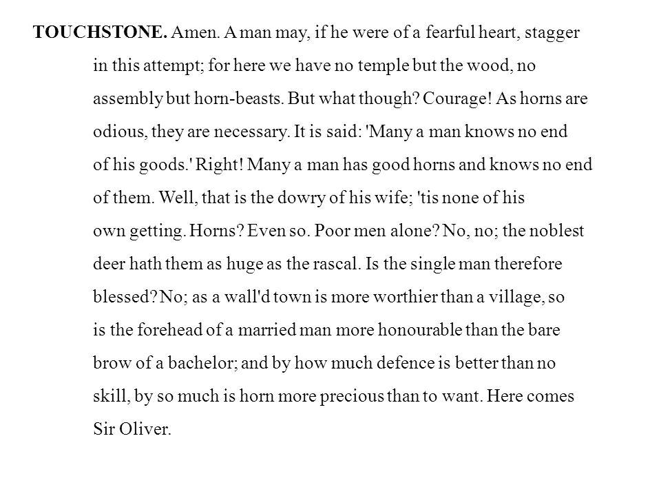 TOUCHSTONE. Amen.