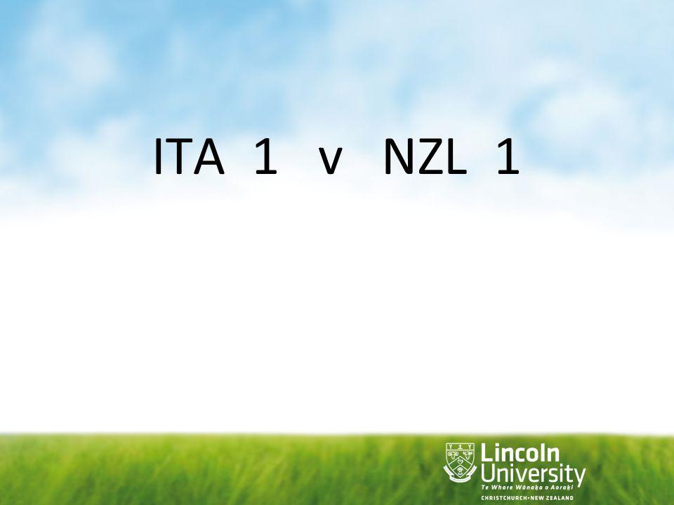 ITA 1 v NZL 1