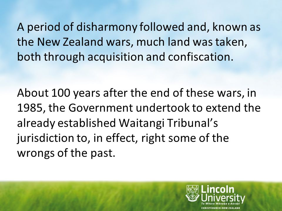 Included in the process were policies of affirmative action whereby allocation of resources were made available to Maori.