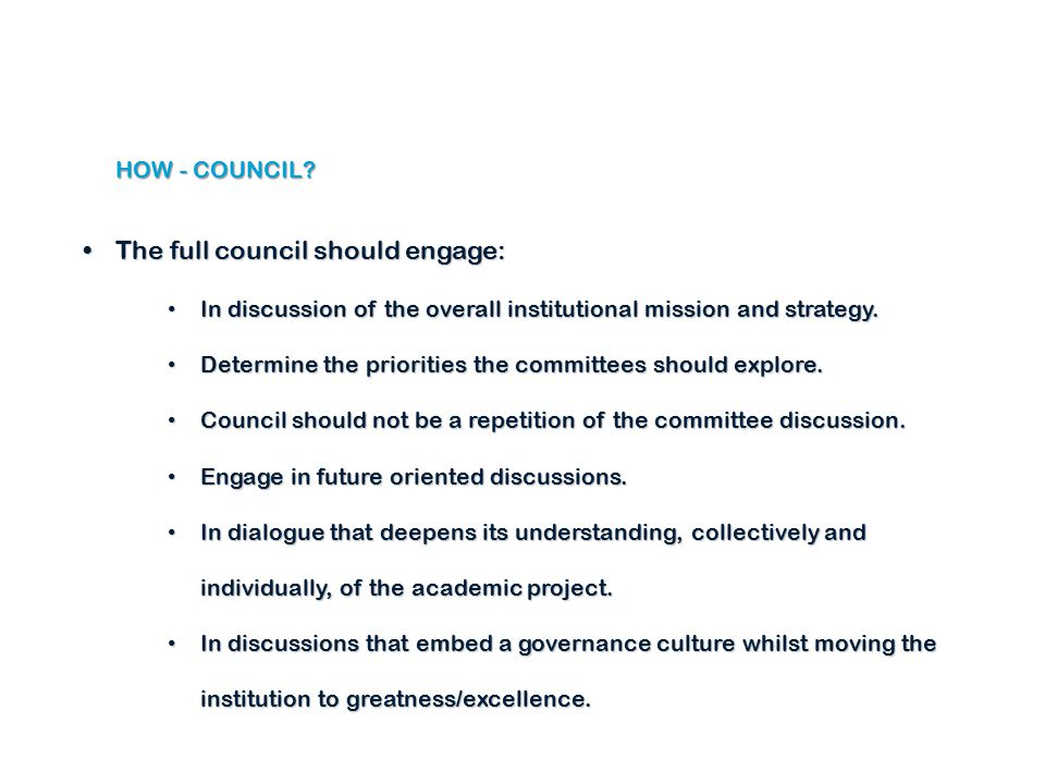 HOW - COUNCIL.