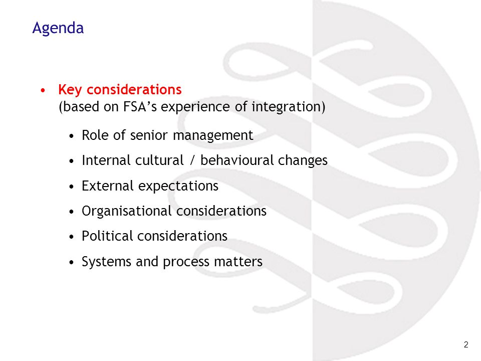 3 The role of senior management For the risk-based approach (or indeed any unified approach) to be successful, the organisation's senior management must buy into it: they must be role models for other staff, exhibiting the behaviour that they expect staff below them to follow; a non-zero failure approach means that front-line staff should not be blamed for legitimate risk decisions which lead to acceptable failures; they must actively use the risk data and information to manage the business – decisions should be transparent, and justified in terms of risk; senior management's risk appetite and priorities must be clearly stated, communicated to front-line staff and embedded in the risk model adopted; they must be prepared to engage in the process, challenging decisions to ensure consistency and appropriateness.