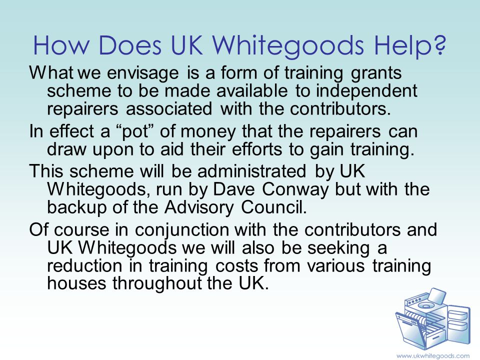 www.ukwhitegoods.com Thanks for taking the time to view this presentation
