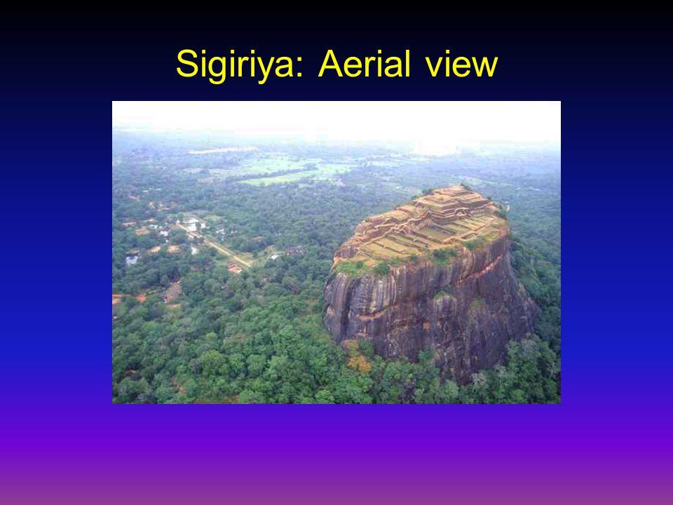 Sigiriya: Aerial view