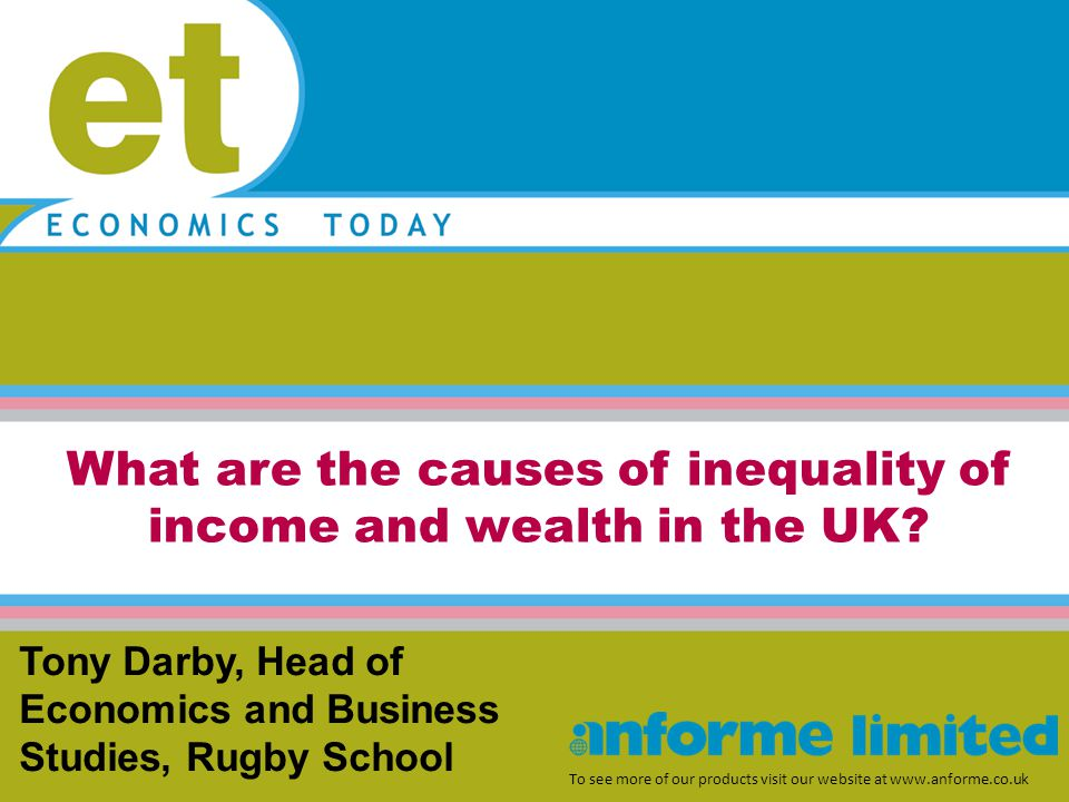 What are the causes of inequality of income and wealth in the UK.