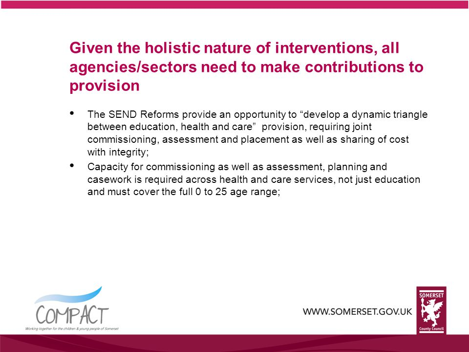SCC staffing and leadership must be organised in a way to deliver outstanding support and service.