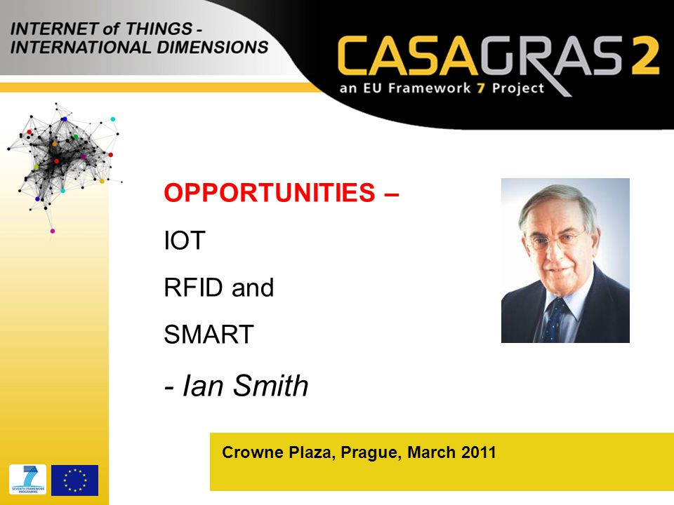 Crowne Plaza, Prague, March 2011 OPPORTUNITIES – IOT RFID and SMART - Ian Smith