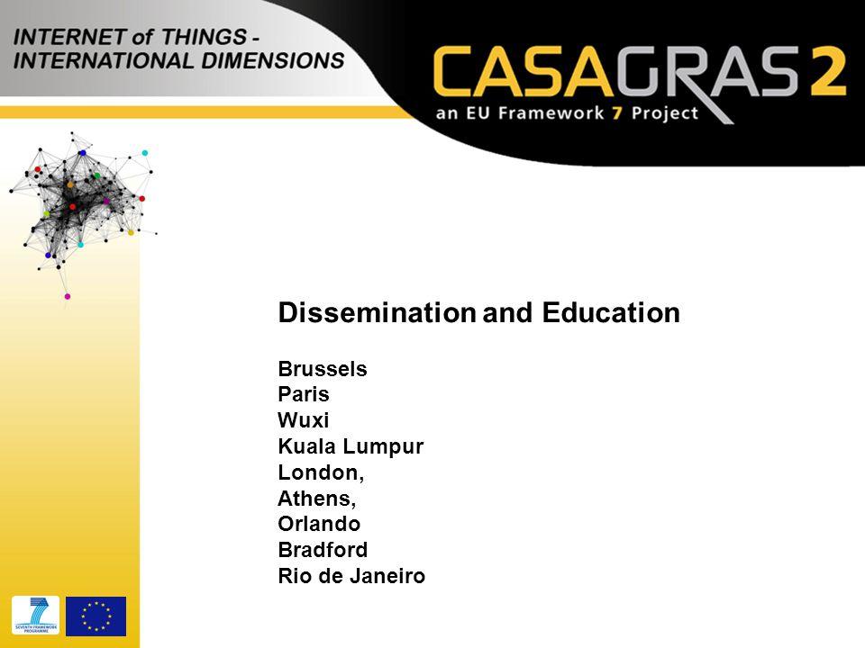 Dissemination and Education Brussels Paris Wuxi Kuala Lumpur London, Athens, Orlando Bradford Rio de Janeiro