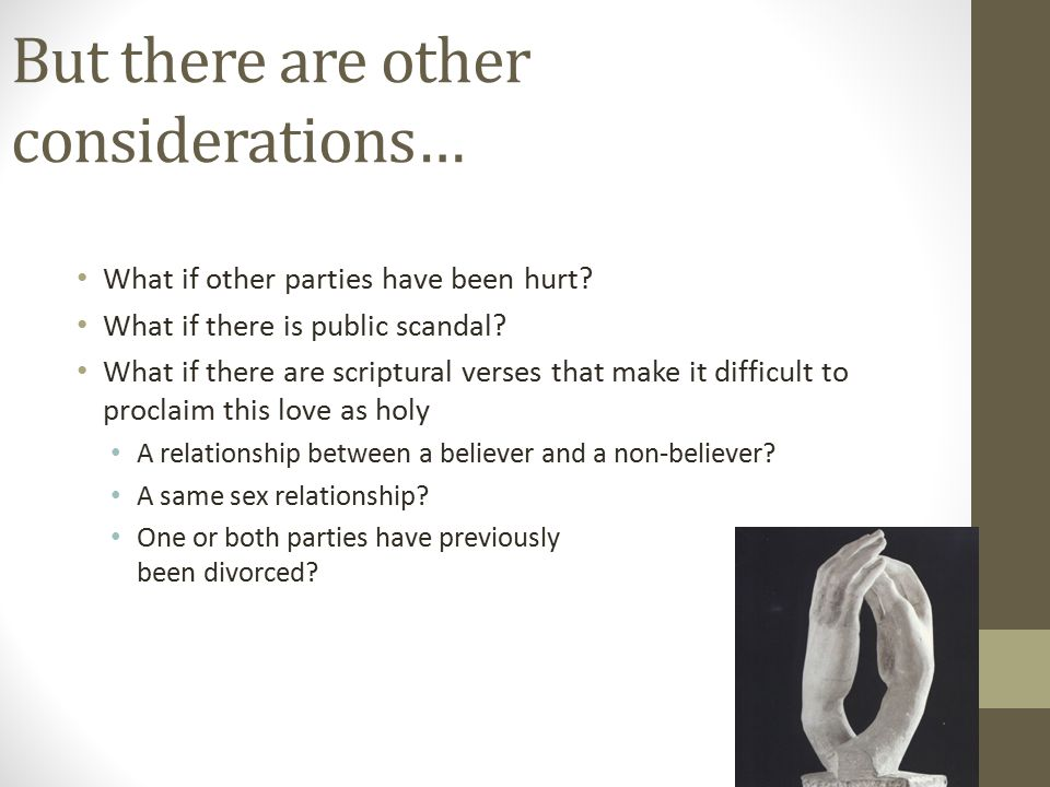 But there are other considerations… What if other parties have been hurt.