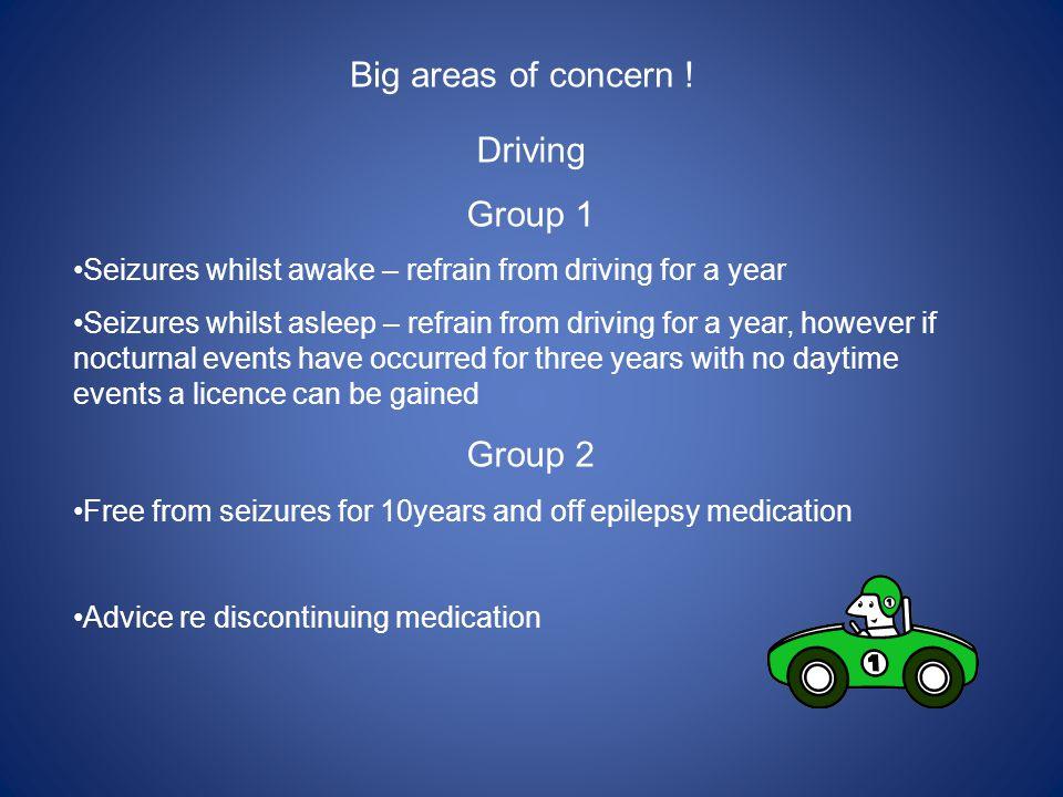 Big areas of concern .