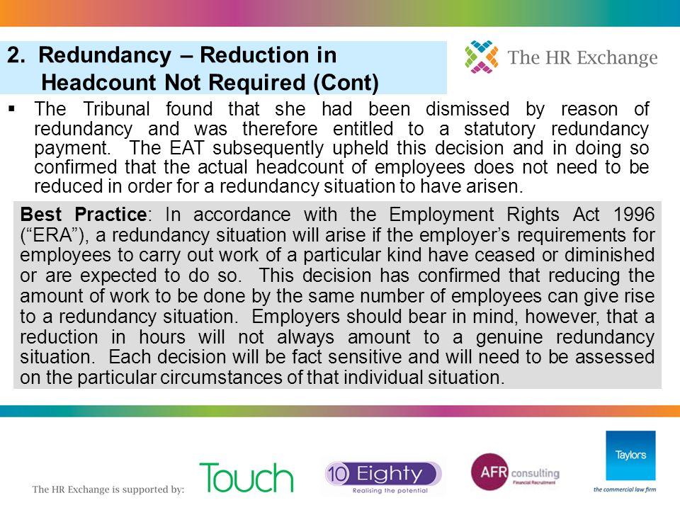 3. Pool of One in Redundancy Selection  Wrexham Golf Co Ltd v.