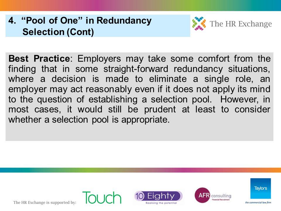 3. Pool of One in Redundancy Selection 6. More Redundancy: Redundancy Scoring (Cont) 15.