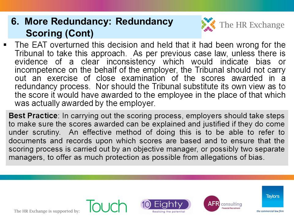 3. Pool of One in Redundancy Selection 6. More Redundancy: Redundancy Scoring (Cont) 7.