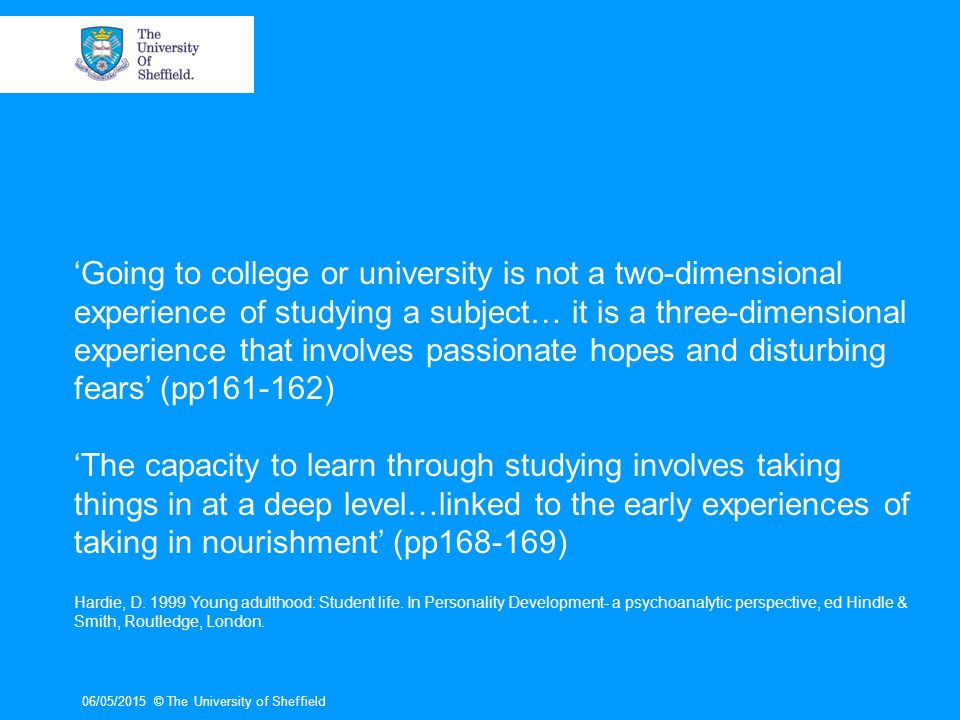 06/05/2015© The University of Sheffield What are the main tasks/ responsibilities of the personal tutor.