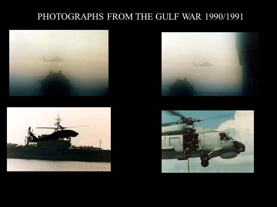 PHOTOGRAPHS FROM THE GULF WAR 1990/1991