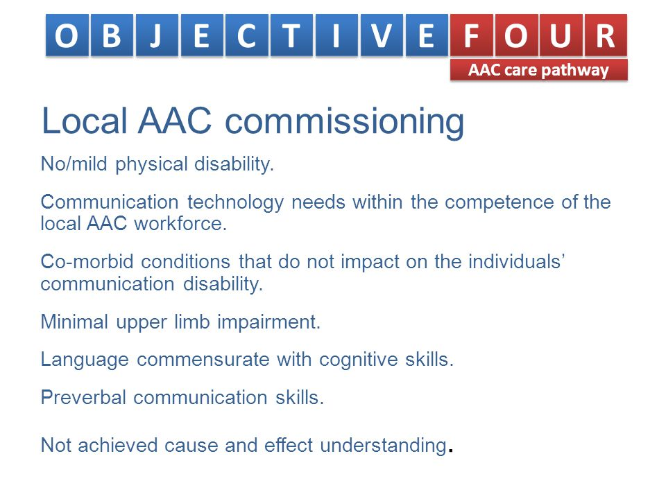 Local AAC commissioning No/mild physical disability.