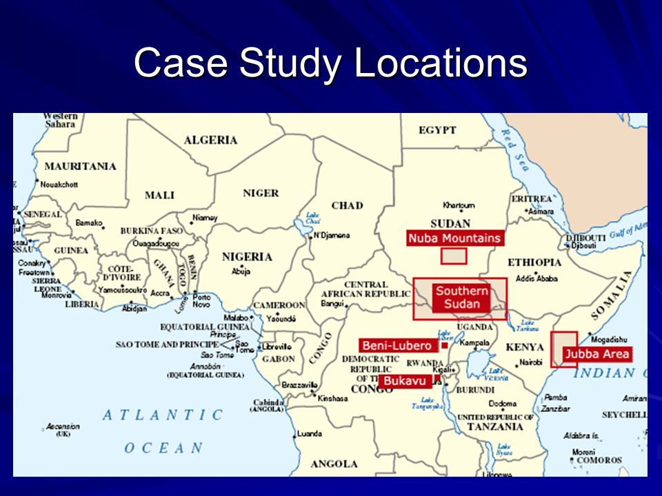 Case Study Locations
