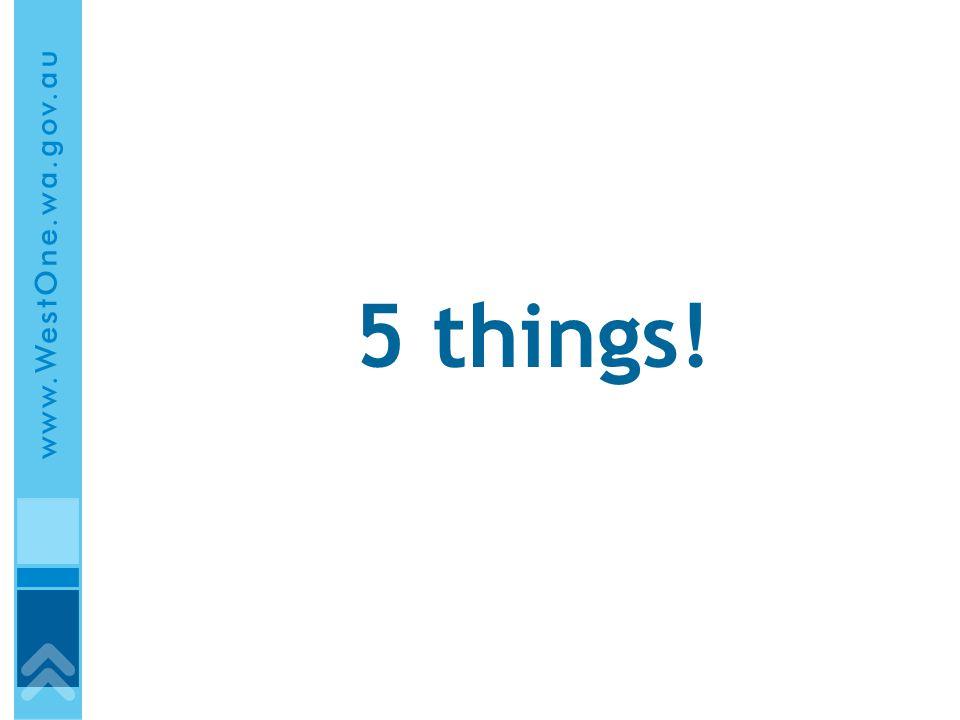 5 things!
