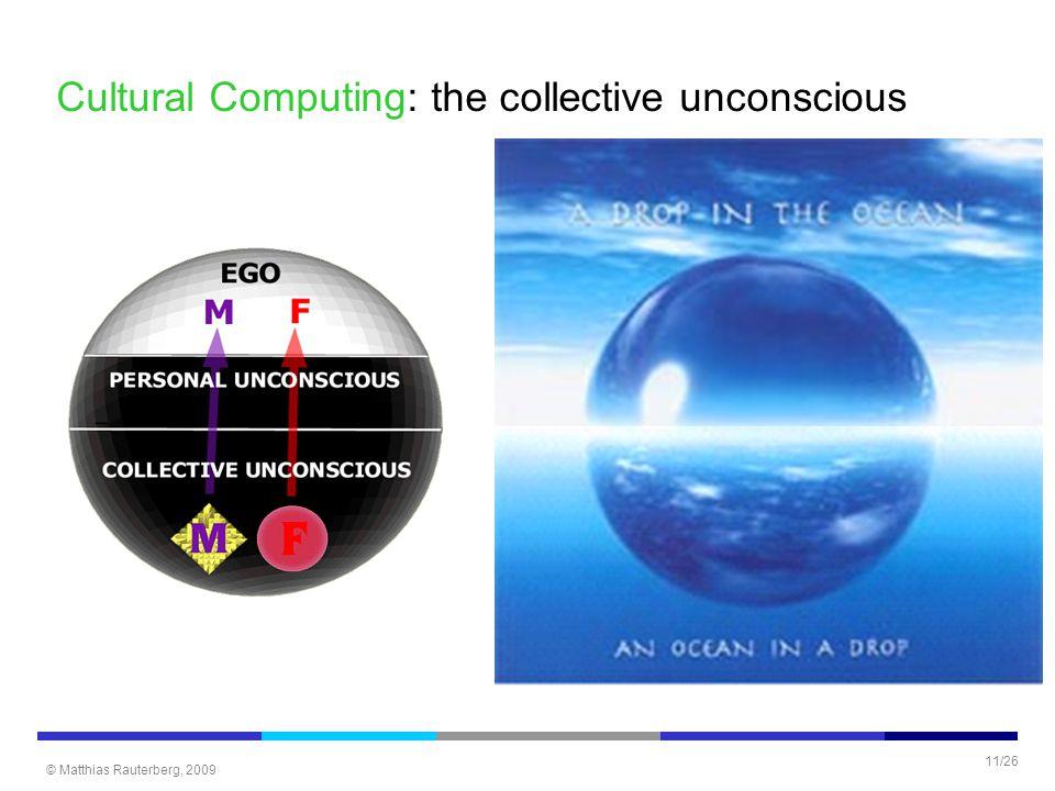 © Matthias Rauterberg, 2009 11/26 Cultural Computing: the collective unconscious