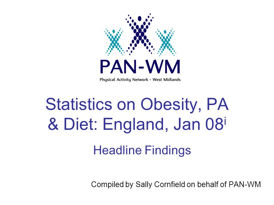 Statistics on Obesity, PA & Diet: England, Jan 08 i Compiled by Sally Cornfield on behalf of PAN-WM Headline Findings