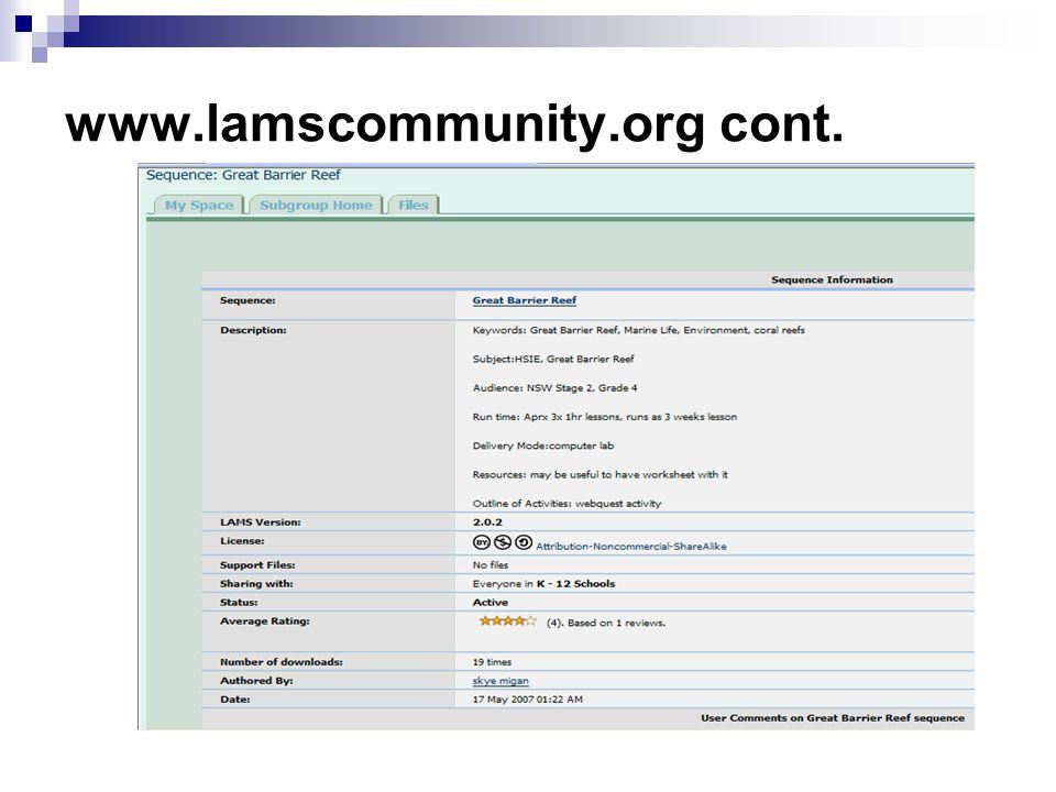 www.lamscommunity.org cont.