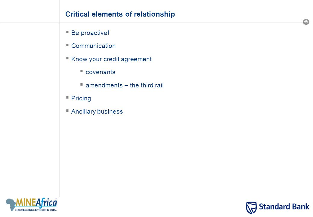 14 Critical elements of relationship  Be proactive.