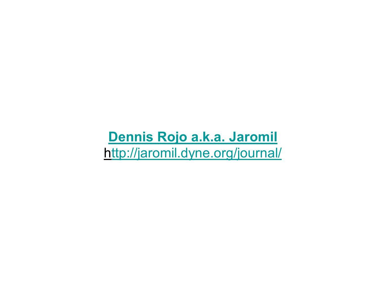 Dennis Rojo a.k.a. Jaromil http://jaromil.dyne.org/journal/ttp://jaromil.dyne.org/journal/