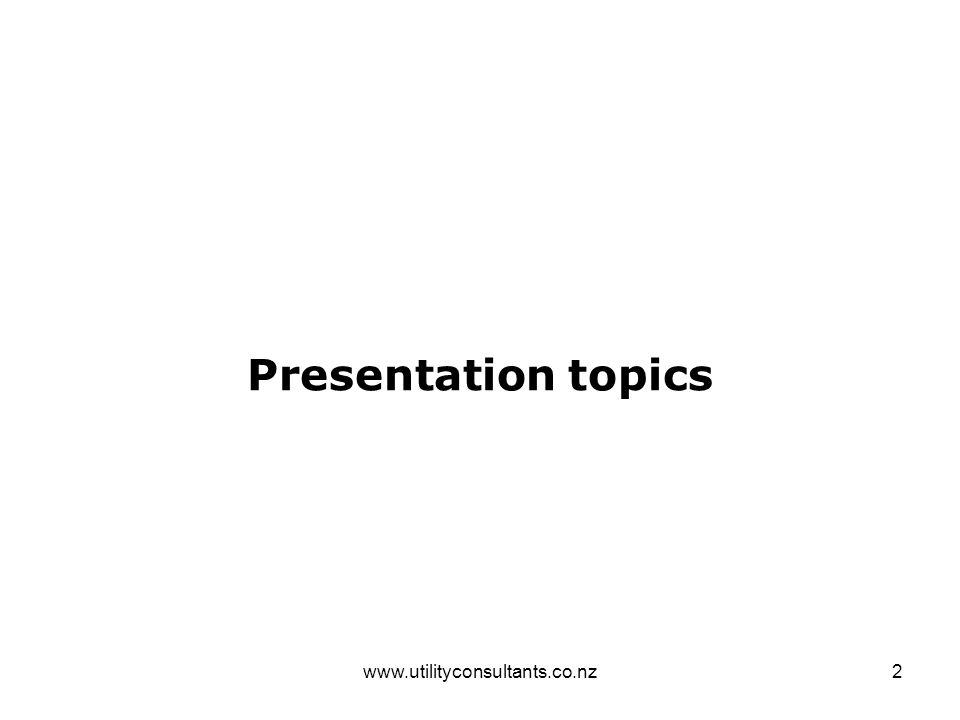 2 Presentation topics