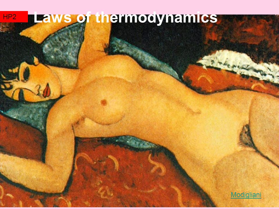 TZ2 Laws of thermodynamics HP2 Modigliani