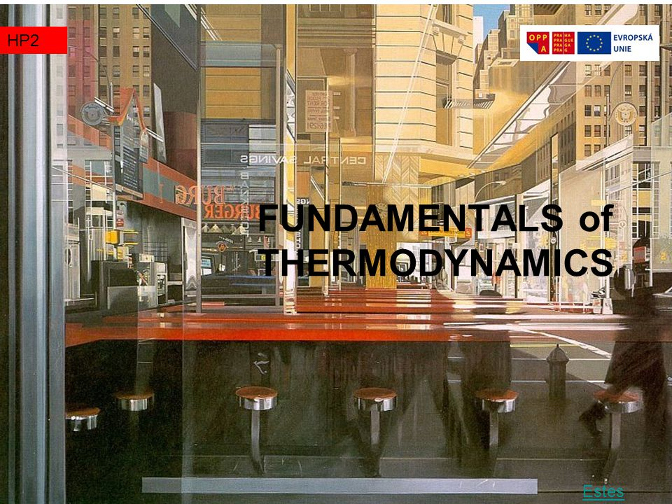 FUNDAMENTALS of THERMODYNAMICS TZ1HP2 Estes