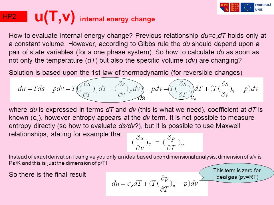 How to evaluate internal energy change.