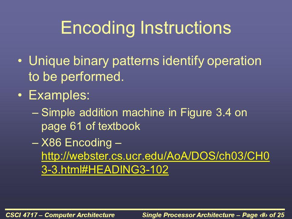 Single Processor Architecture – Page 17 of 25CSCI 4717 – Computer Architecture Transfer of Control via Interrupts