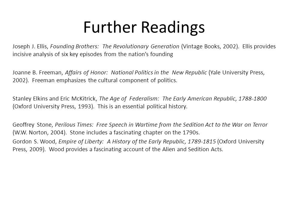 Further Readings Joseph J.
