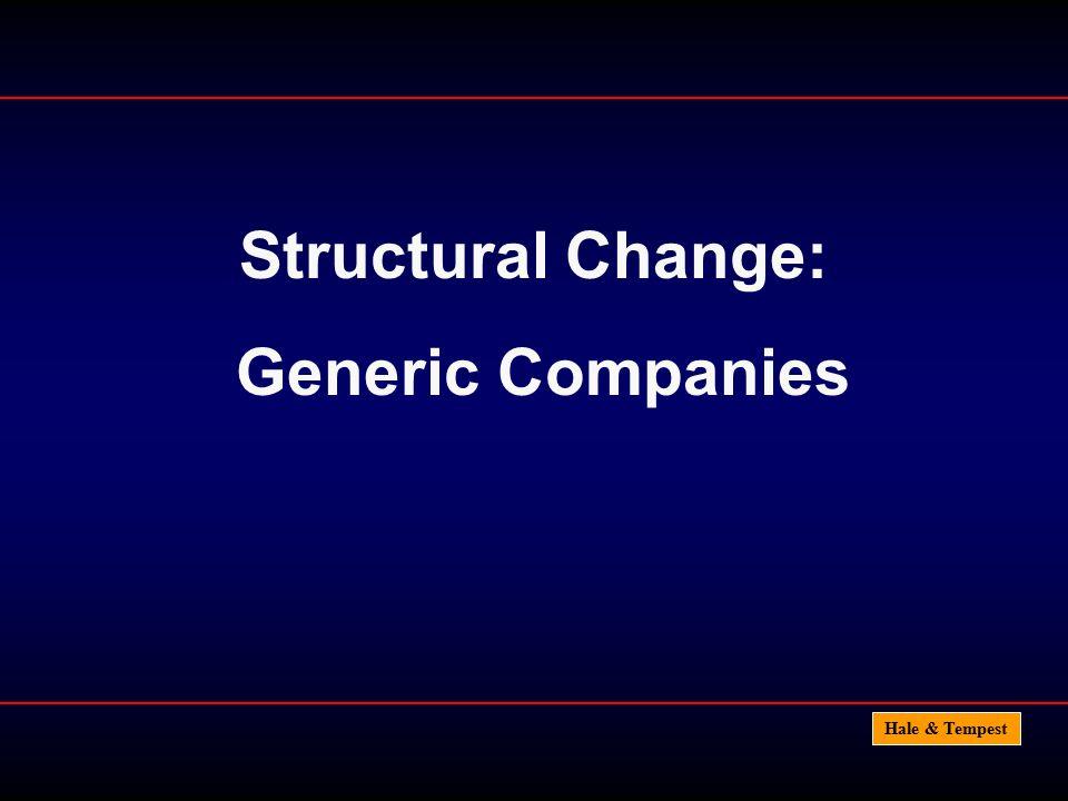 Hale & Tempest Structural Change: Generic Companies