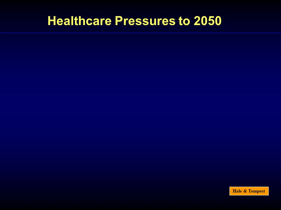 Hale & Tempest Healthcare Pressures to 2050